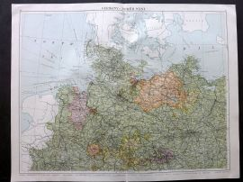 Gross 1920 Large Map. Germany - North West